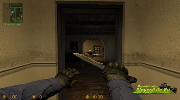 Стандартный нож с анимацией из CS:GO для CS:S
