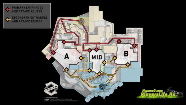 Карта Зенит (Zenith [AV09]) для CS:GO