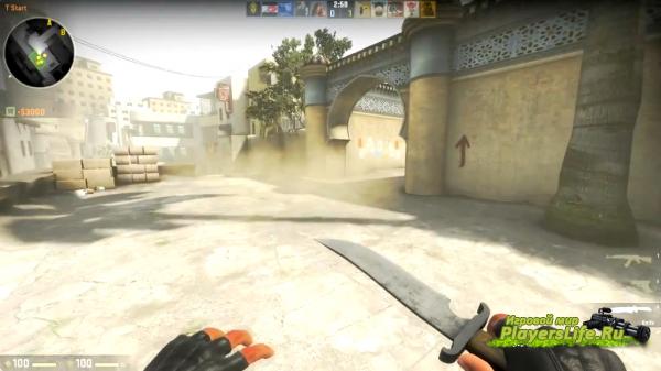 Нож террориста из CS:GO для CS:S