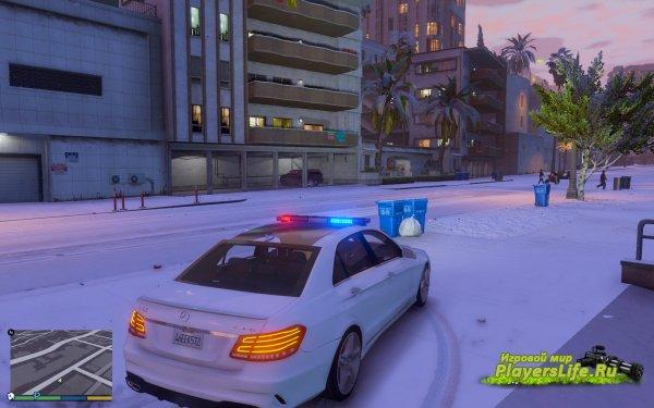 Полицейская машина Mercedes Benz E63 для GTA 5