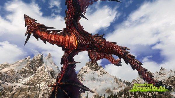 Новый персонаж – Дракон Нидхёгг (холод и огонь) для Скайрим
