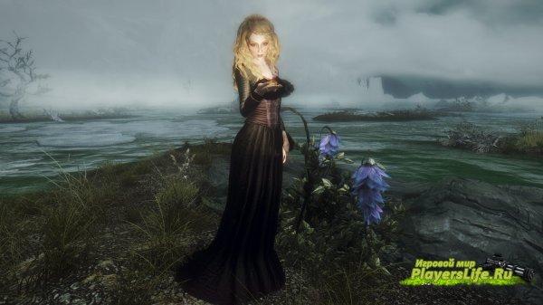 Красивое платье волшебницы для скайрима
