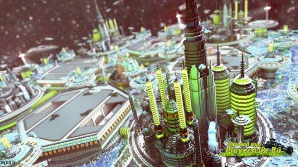 Футуристический город (City of Valzuha) 1.9.4 – 1.10.2 для Minecraft