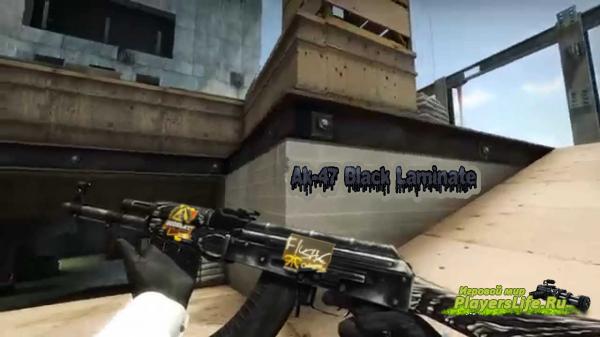 Ak-47 Черный Глянец (Все версии) (Наклейки)